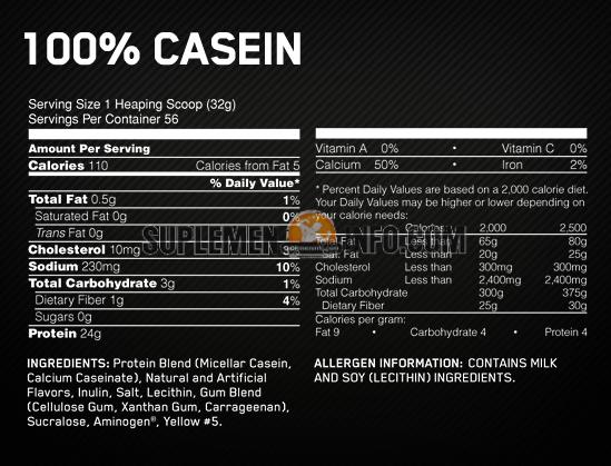 Optimum Nutrition Gold Standard 100 Casein2