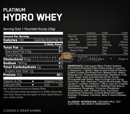 Optimum Nutrition Platinum Hydrowhey2